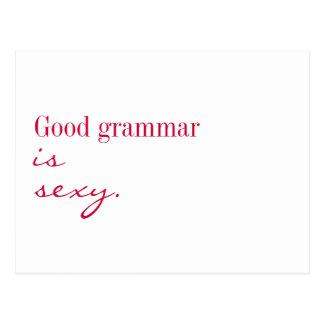 """Cartão - a boa gramática é """"sexy"""" cartão postal"""