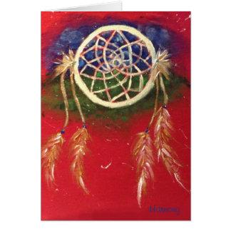 Cartão A boa harmonia vermelha de Dreamcatcher da estrada