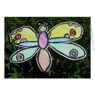 Cartão A borboleta de Calvin aterrada