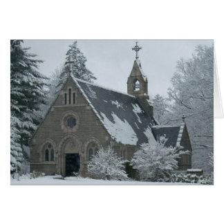 Cartão A capela do inverno
