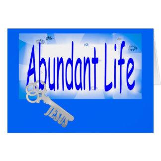 Cartão A chave à vida abundante v2 (10:10 de John)