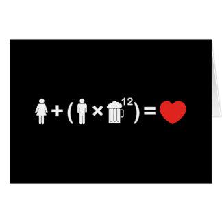 Cartão A equação do amor para homens