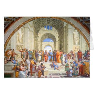 Cartão A escola de Raphael de Atenas (Plato e Aristotle)