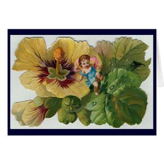 Cartão A fada de Hybiscus