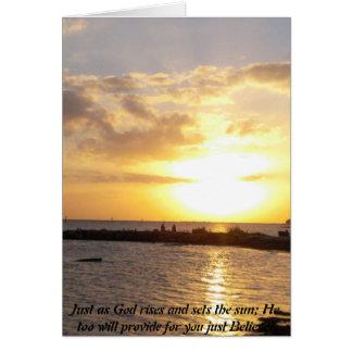 Cartão A glória do deus!