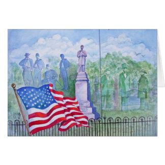 Cartão A glória velha acena para a liberdade