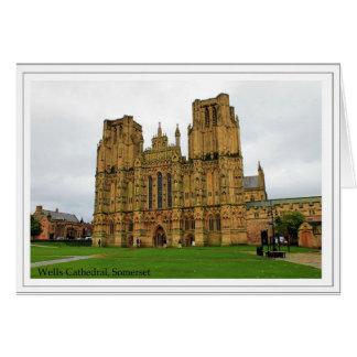 Cartão A igreja da catedral de St Andrew, poços, Somerset