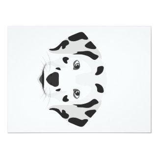 Cartão A ilustração persegue o Dalmatian da cara