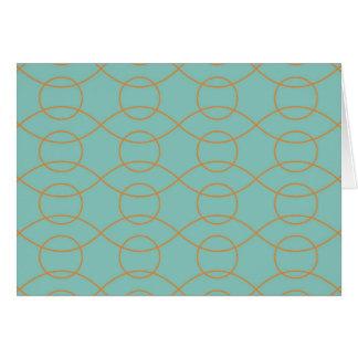 Cartão A laranja azul moderna elegante circunda listras