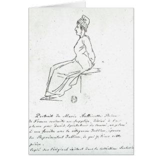 Cartão A maneira de Marie-Antoinette a sua execução