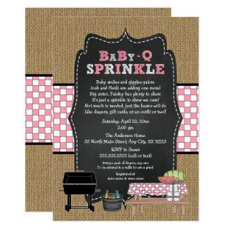 Cartão A menina BabyQ polvilha, chá de fraldas do