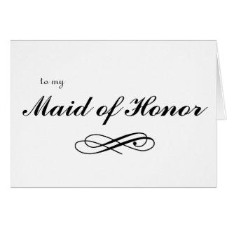 Cartão a minha madrinha de casamento