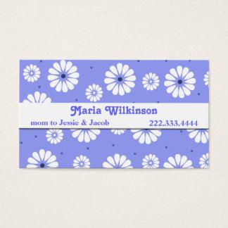 Cartão à moda das mamães da margarida azul e