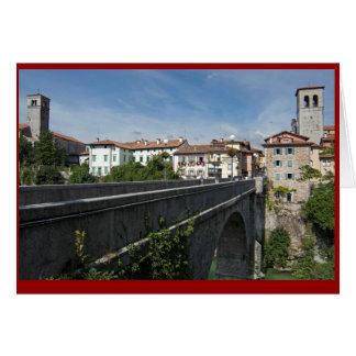 Cartão A ponte do diabo e o Cividale del Friuli, Italia