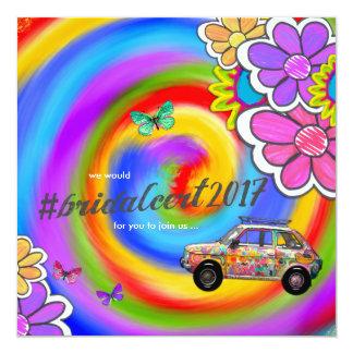 Cartão A tintura do laço do hippy do GC convida o CERT