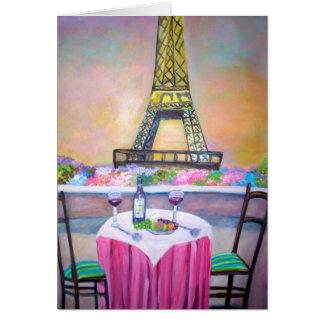 Cartão A torre Eiffel -