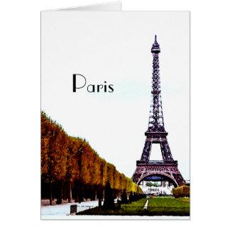 Cartão A torre Eiffel - Paris