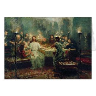 Cartão A última ceia por Ilya Repin