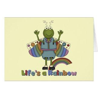 Cartão A vida do inseto é camiseta e presentes de um