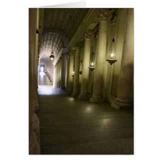 Cartão Abaixo do corredor