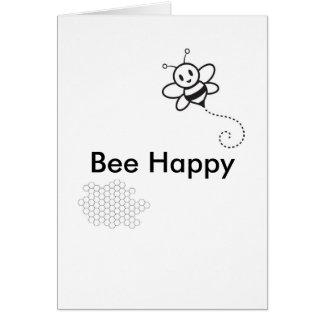 Cartão Abelha feliz
