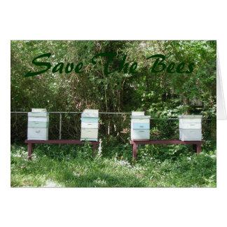 Cartão Abelhas do mel