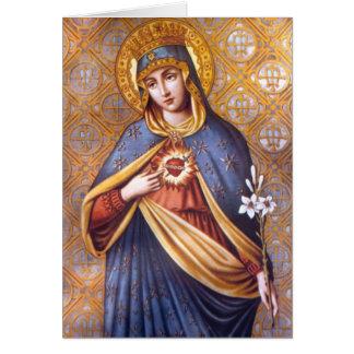 Cartão abençoado da Virgem Maria