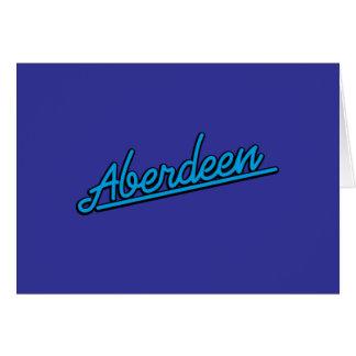 Cartão Aberdeen em ciano