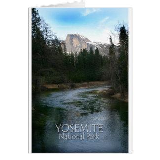 Cartão Abóbada do parque nacional de Yosemite meia