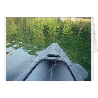 Cartão Abra largamente o lago