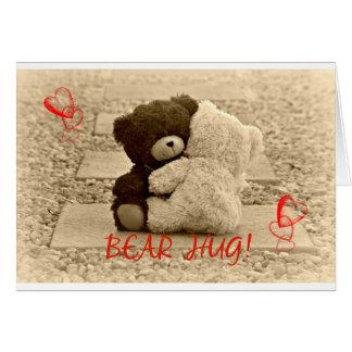 Cartão Abraço de urso!