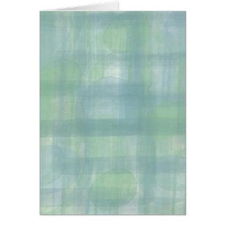 Cartão Abstrato azul da aguarela do mar
