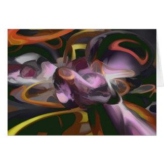 Cartão Abstrato cósmico do Pastel do relâmpago