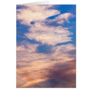 Cartão Abstrato da nuvem