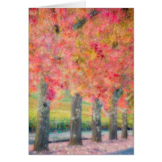 Cartão Abstrato de árvores de Napa Valley