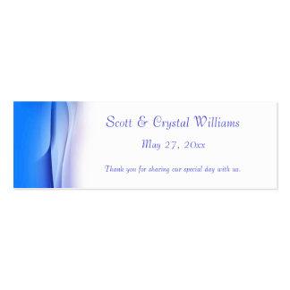 Cartão abstrato do favor do casamento do azul cartão de visita skinny