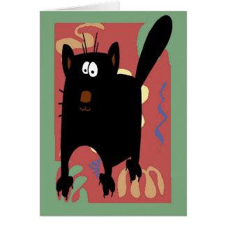 Cartão Abstrato do gato preto