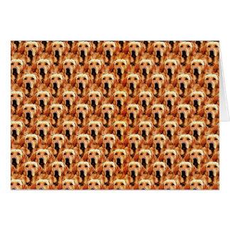 Cartão Abstrato legal do golden retriever do cachorrinho