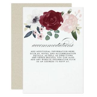 Cartão Acomodações florais românticas