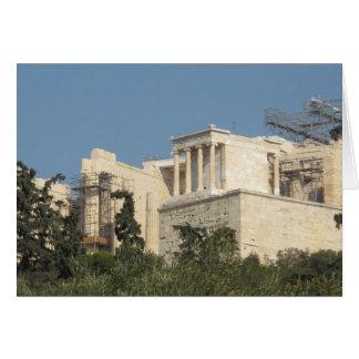 Cartão Acrópole da arquitetura de Atenas da piscina