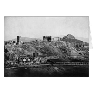 Cartão Acrópole do ~ da acrópole da piscina 1865 de