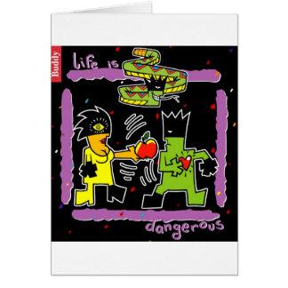 Cartão Adam & véspera - design do pecado original