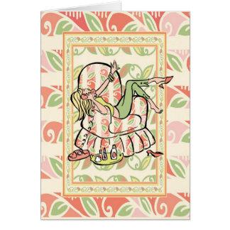 Cartão Adolescente doce