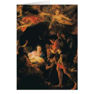 Cartão Adoração de anjos de w dos pastores