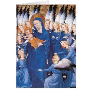 Cartão Adoração dos anjos