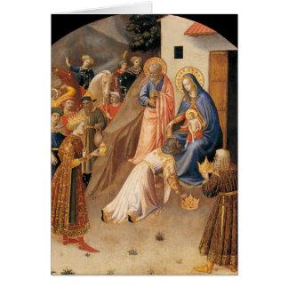 Cartão Adoração dos Magi por Fra Angelico 1423