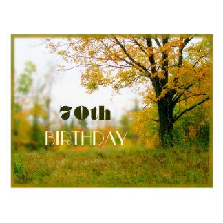 Cartão adulto do convite do campo do outono do cartão postal
