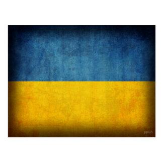 Cartão afligidos bandeira de Ucrânia