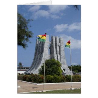 Cartão África, Ghana, Accra. Mausoléu de Nkrumah, final 3