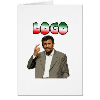 Cartão Ahmadinejad - louco